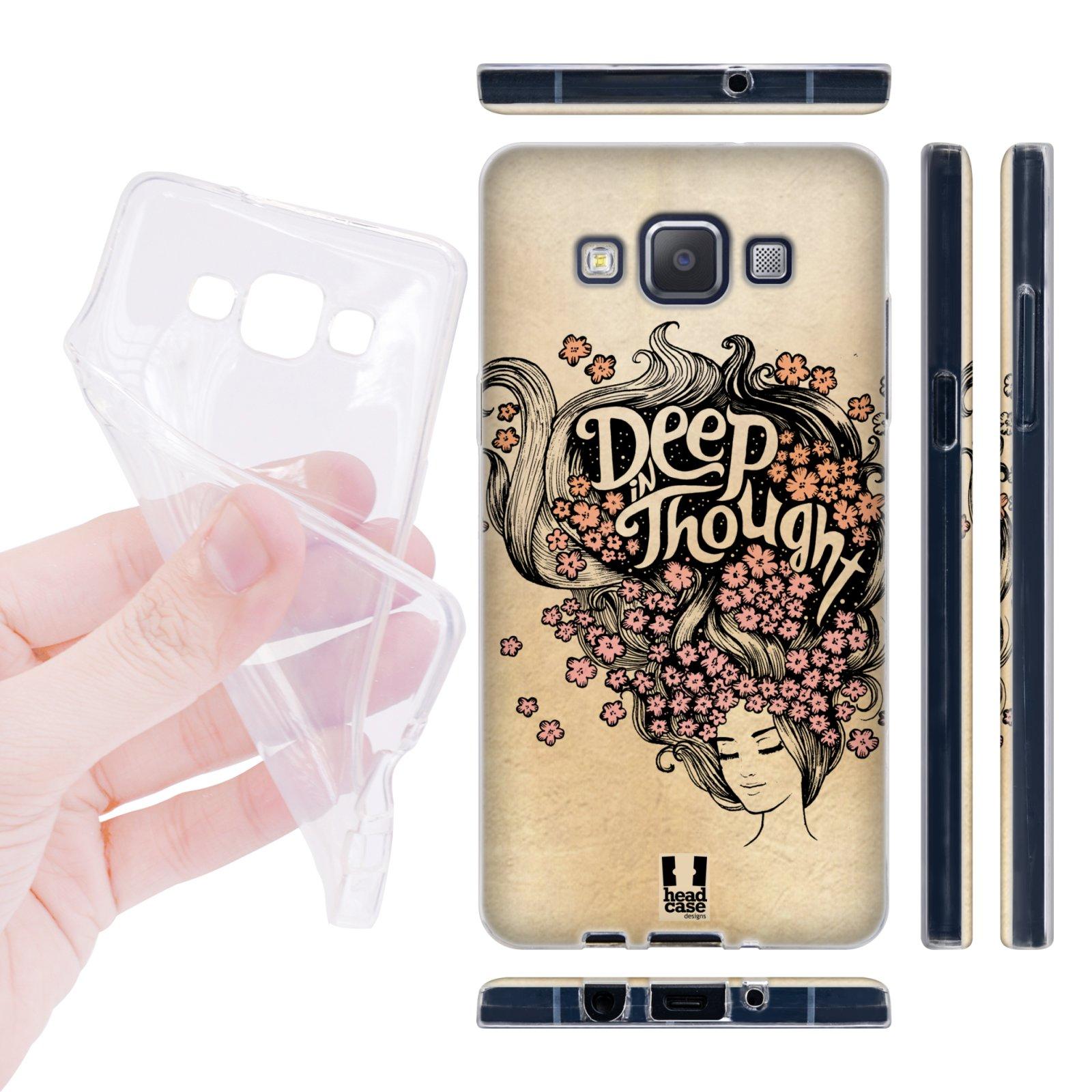 Head Case silikonové pouzdro na mobil Samsung galaxy A5 Dívka s květy ve vlasech