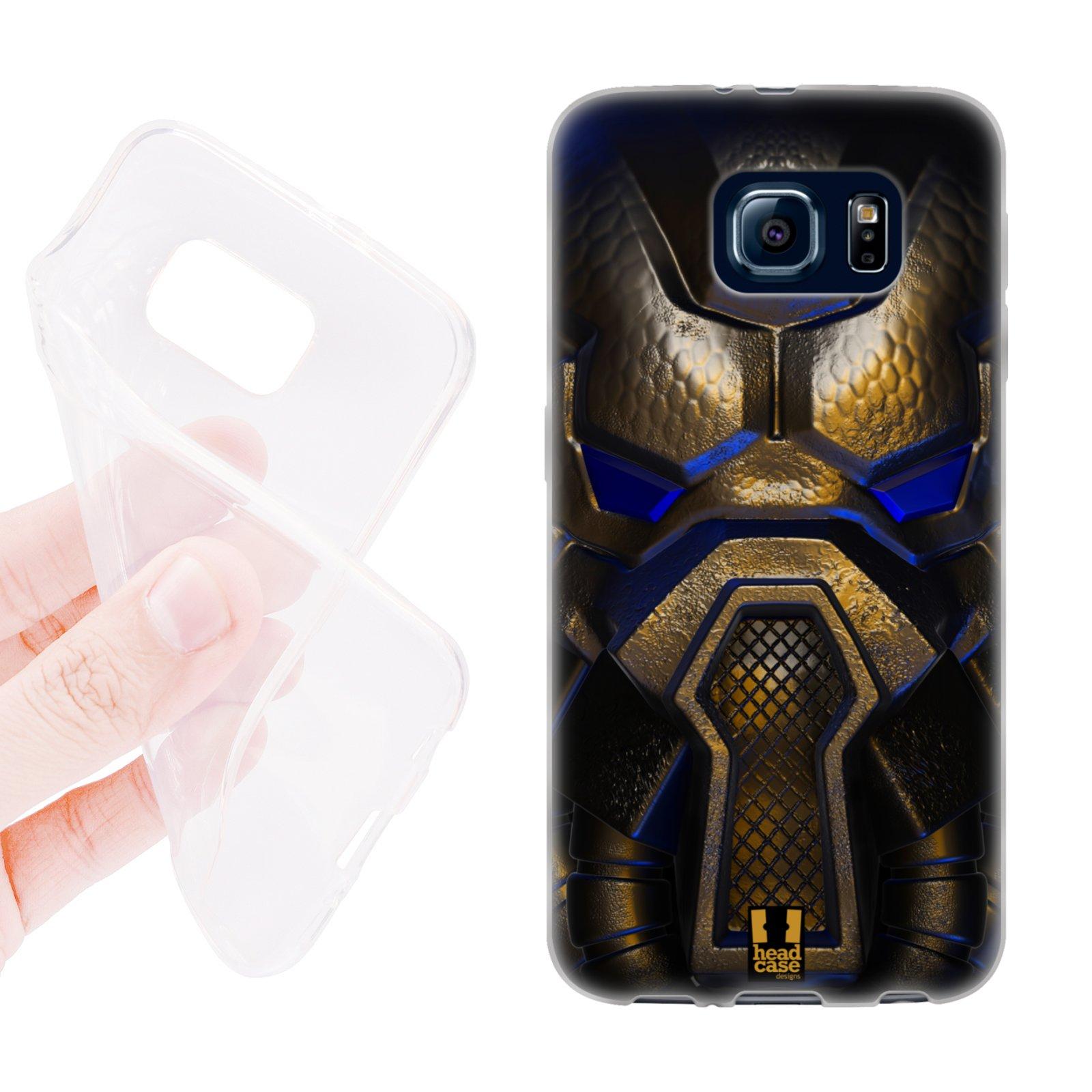 HEAD CASE silikonový obal na mobil Samsung galaxy S6 vesmírný válečník modrá