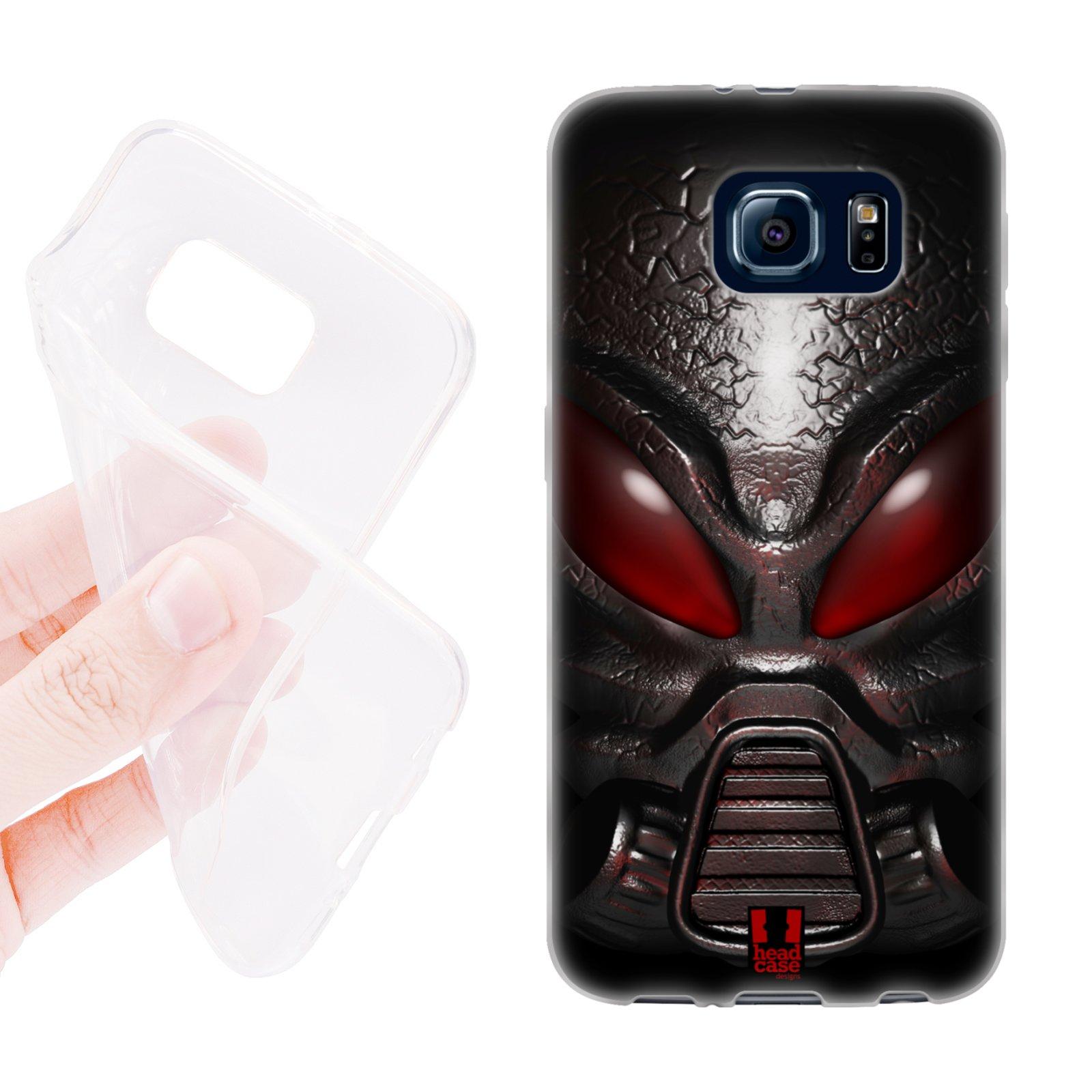 HEAD CASE silikonový obal na mobil Samsung galaxy S6 vesmírný válečník červená