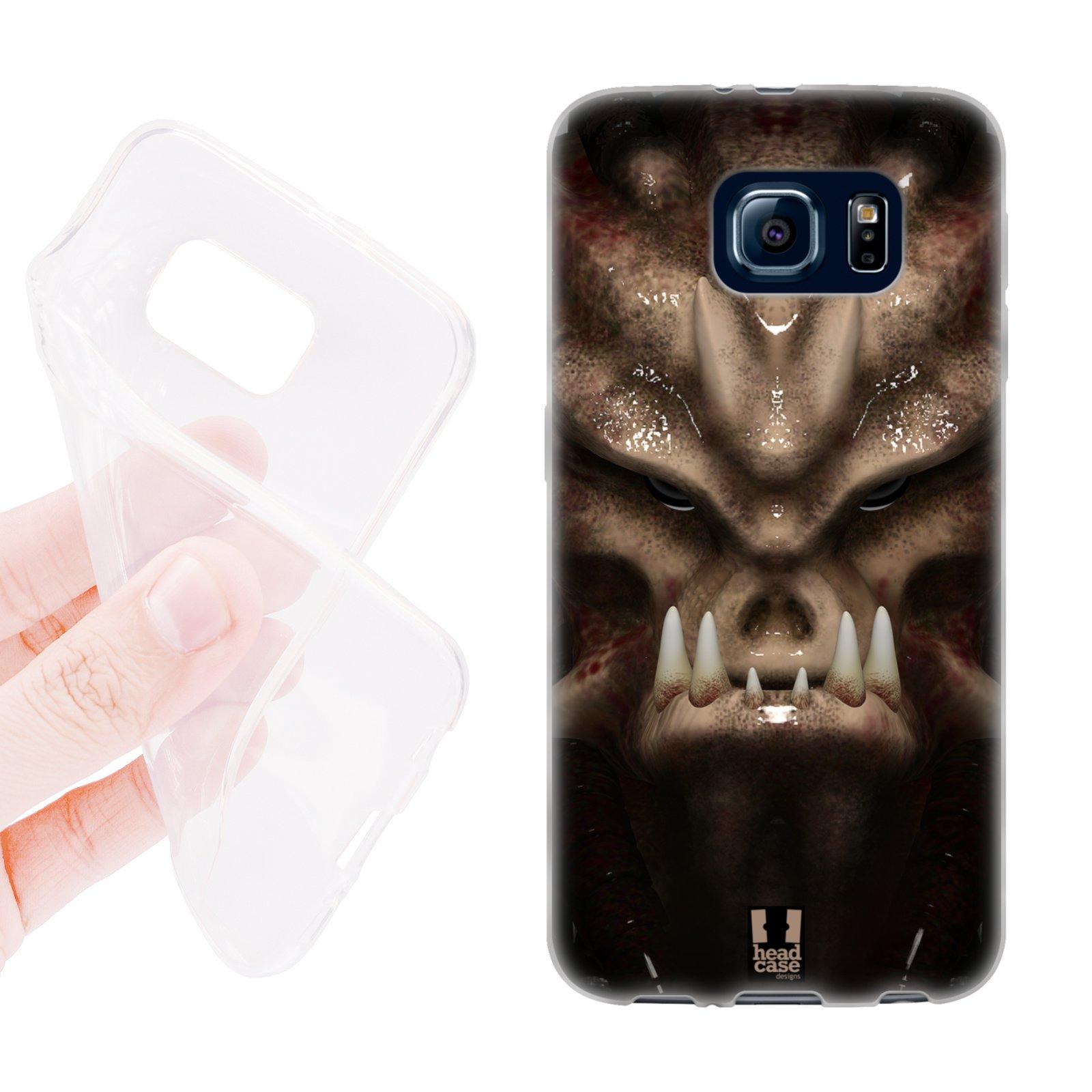 HEAD CASE silikonový obal na mobil Samsung galaxy S6 vesmírný válečník vetřelec