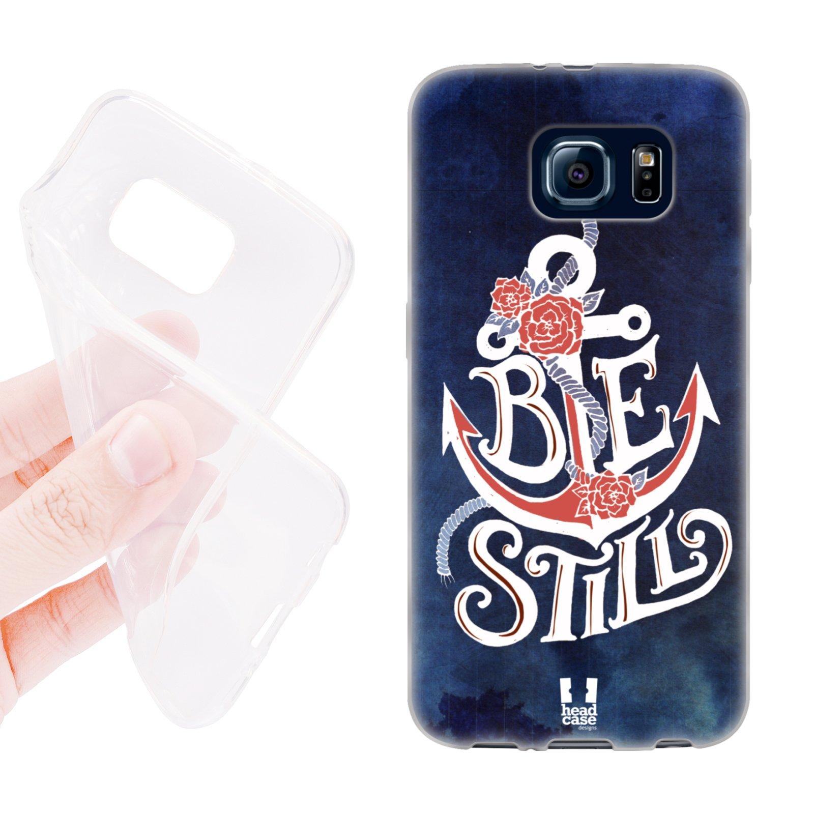 HEAD CASE silikonový obal na mobil Samsung galaxy S6 kotva modrá