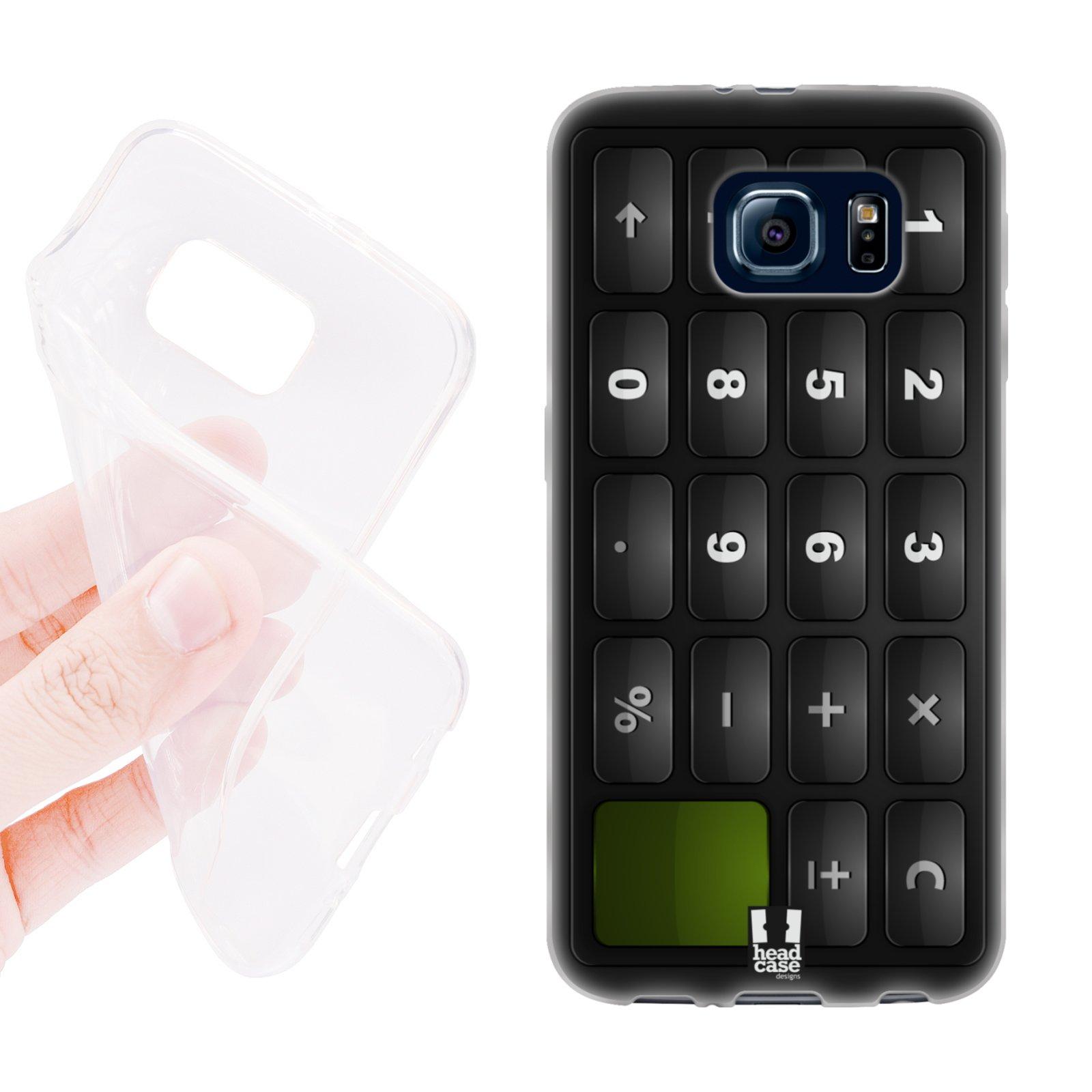 HEAD CASE silikonový obal na mobil Samsung galaxy S6 kalkulačka černá
