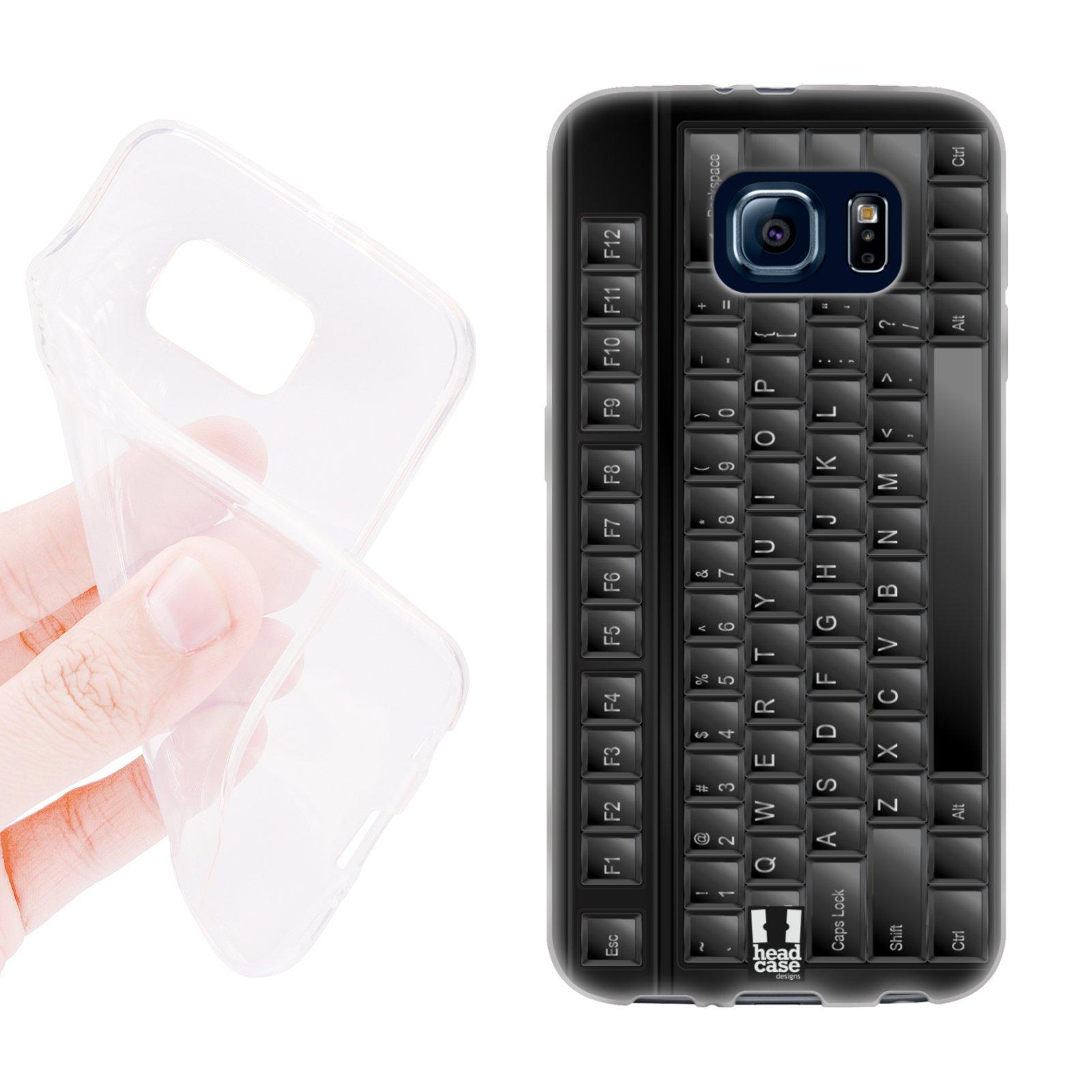 HEAD CASE silikonový obal na mobil Samsung galaxy S6 klávesnice černá