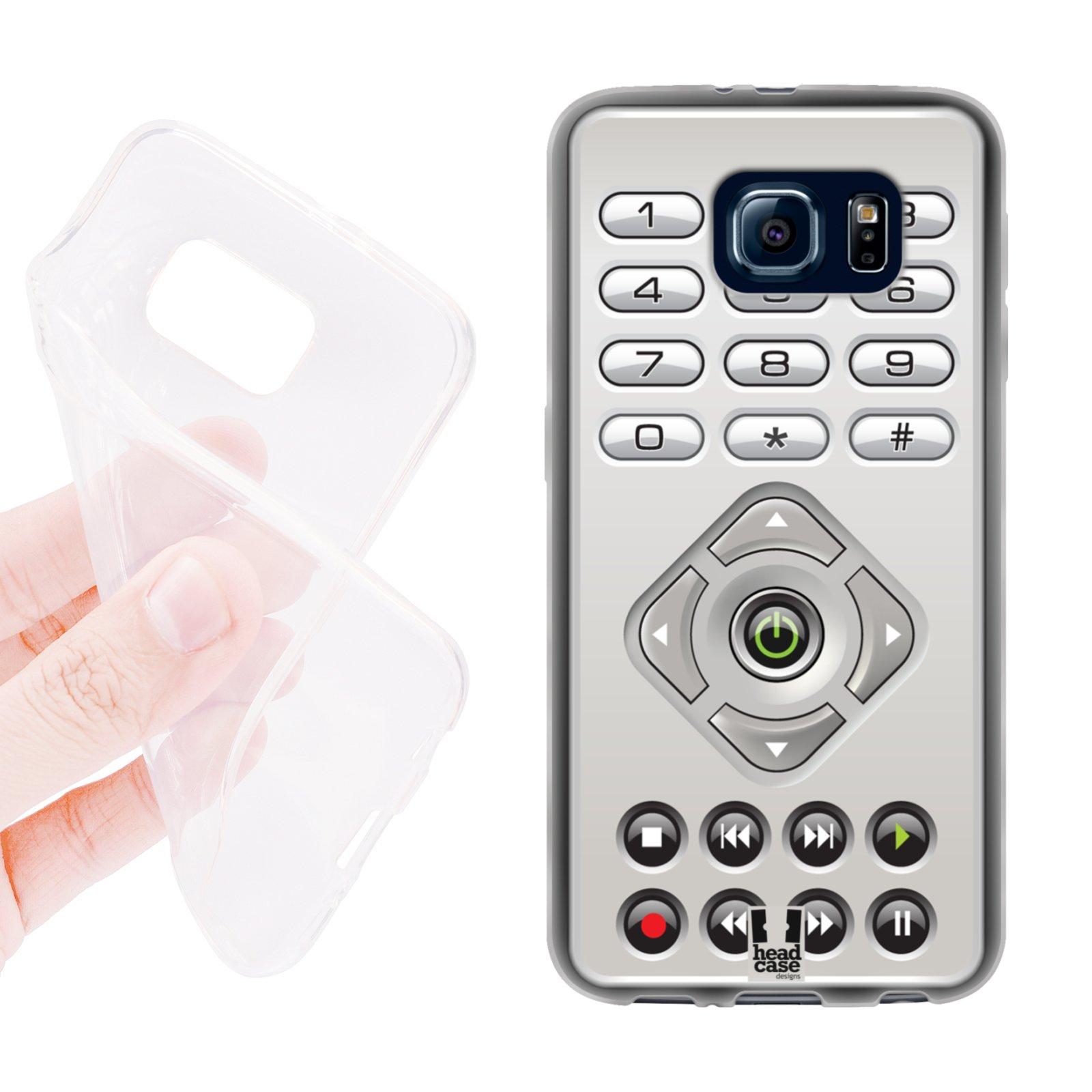 HEAD CASE silikonový obal na mobil Samsung galaxy S6 dálkový ovladač stříbrná