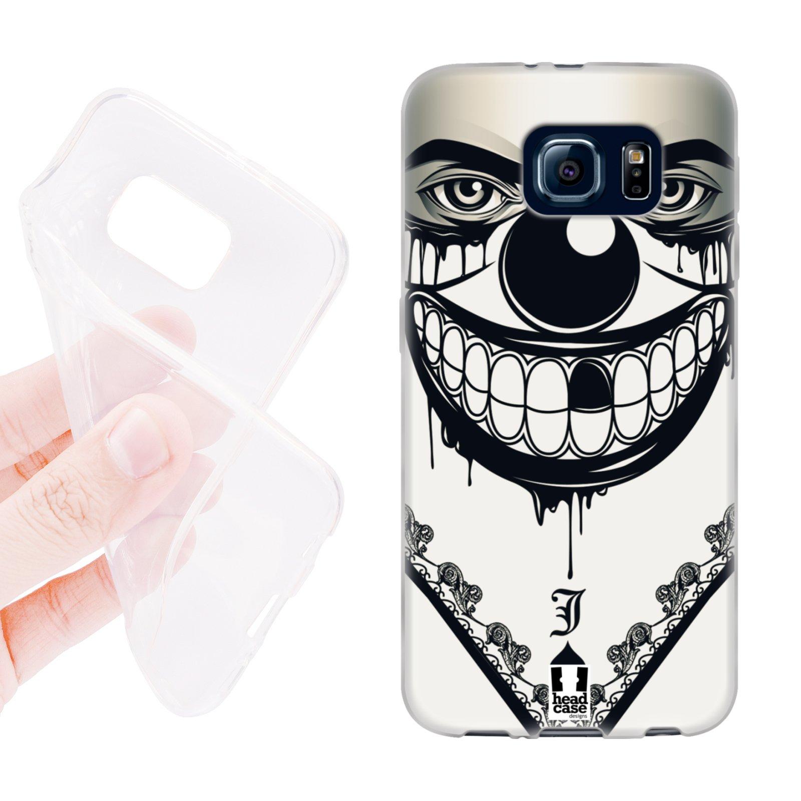 HEAD CASE silikonový obal na mobil Samsung galaxy S6 šátek zloděj klaun