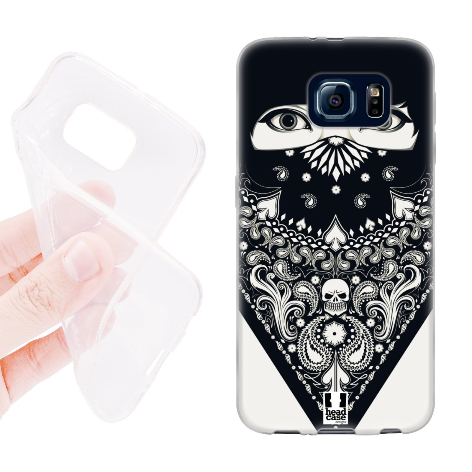 HEAD CASE silikonový obal na mobil Samsung galaxy S6 šátek slzy žena