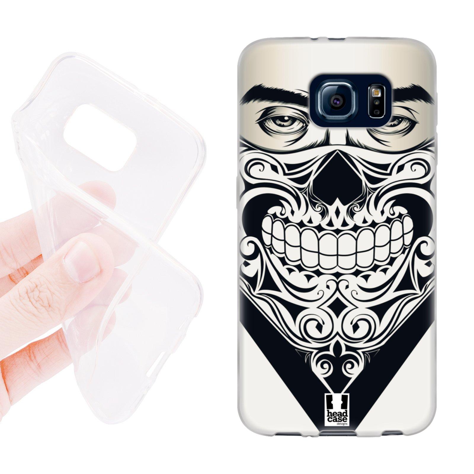 HEAD CASE silikonový obal na mobil Samsung galaxy S6 šátek smrtící pohled