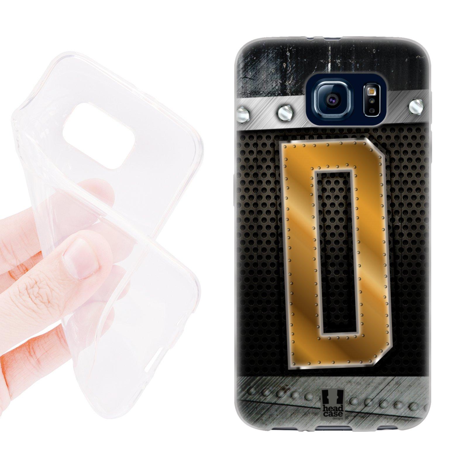 HEAD CASE silikonový obal na mobil Samsung galaxy S6 zlaté písmeno D