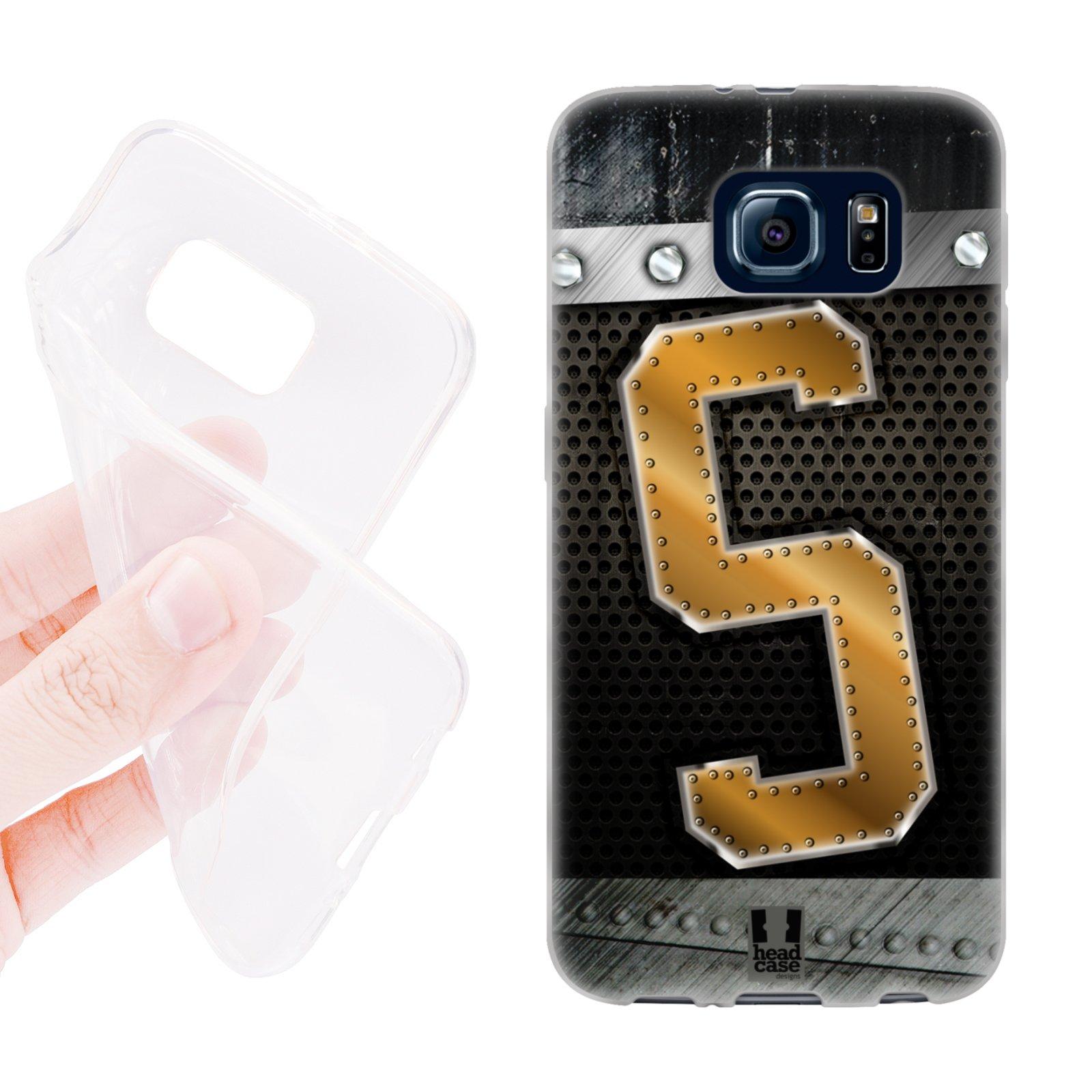 HEAD CASE silikonový obal na mobil Samsung galaxy S6 zlaté písmeno S