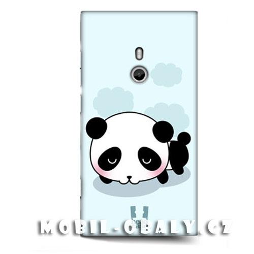 HEAD CASE obal Nokia Lumia 800 modrý plast vzor panda
