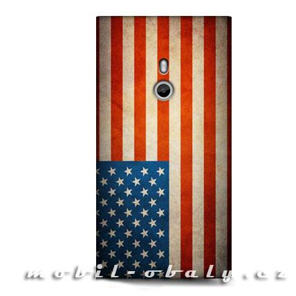 HEAD CASE Obal Nokia Lumia 800 americká vlajka