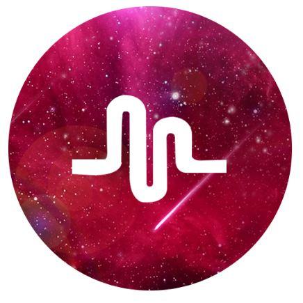 Držák na mobil samonalepovací hudba vesmír rudá