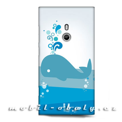 HEAD CASE Obal Nokia Lumia 800 plastový modrá velryba