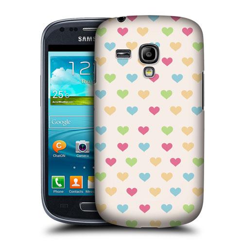 HEAD CASE pouzdro na mobil Samsung galaxy S3 mini bílá srdce