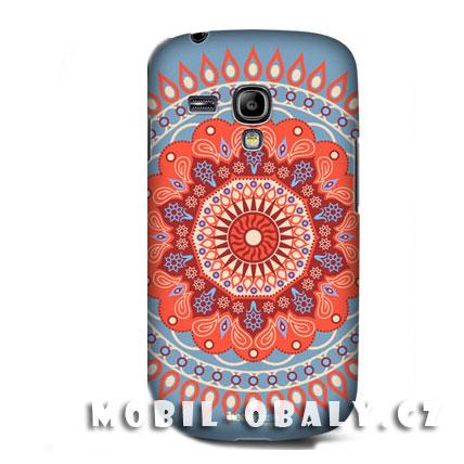 HEAD CASE pouzdro na mobil Samsung galaxy S3 mini Indický vzor červená