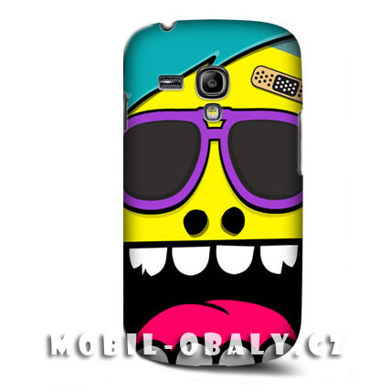 HEAD CASE pouzdro na mobil Samsung galaxy S3 mini šílený smajlík žlutá
