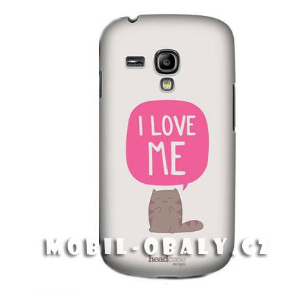 HEAD CASE pouzdro na mobil Samsung galaxy S3 mini I love me