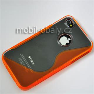 S-line obal oranžový průhledný Apple Iphone 4/4S