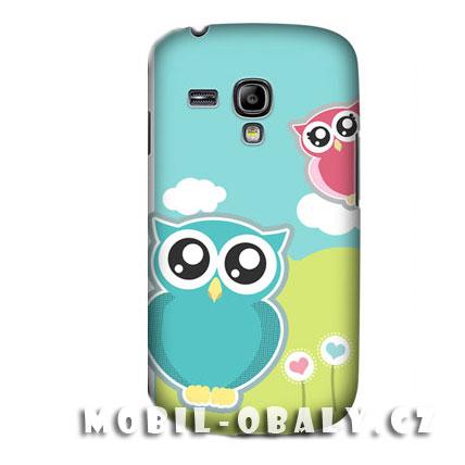 HEAD CASE pouzdro na mobil Samsung galaxy S3 mini Sova modrá růžová