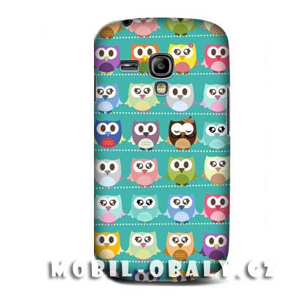 HEAD CASE pouzdro na mobil Samsung galaxy S3 mini zvířátko sova zelená