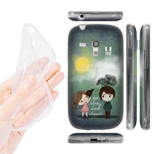 HEAD CASE silikonové Pouzdro na mobil Samsung galaxy S3 MINI vzor děvče s fénem