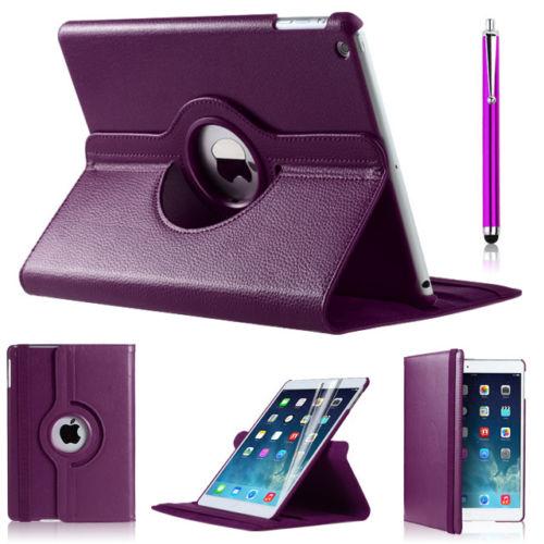 Pouzdro 360 DEGREE na tablet Apple iPad Air fialová barva+ fólie zdarma b47e899bbdf