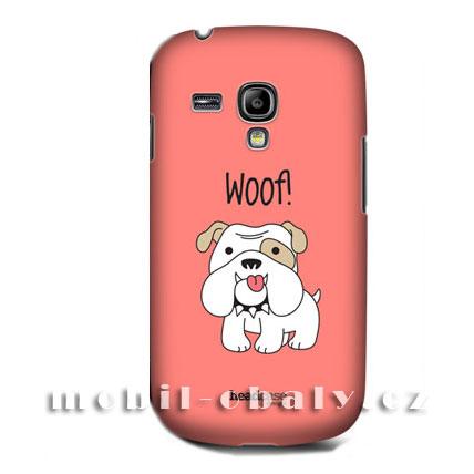 HEAD CASE pouzdro na mobil Samsung galaxy S3 mini pejsek buldok červená