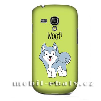 HEAD CASE pouzdro na mobil Samsung galaxy S3 mini malý pejsek Husky modrá