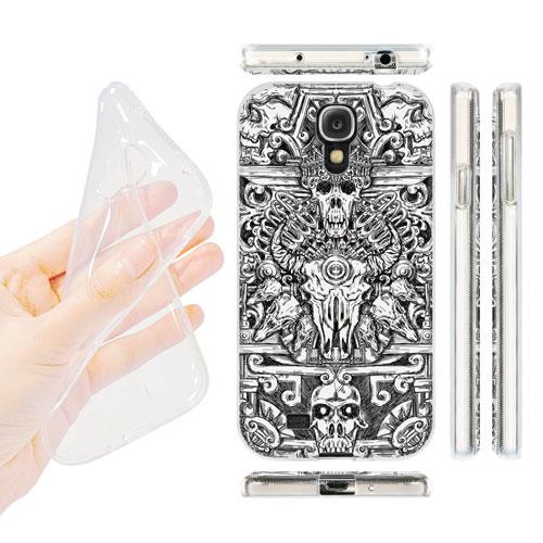 HEAD CASE silikonový obal na mobil Samsung galaxy S4 lebky a meče totem