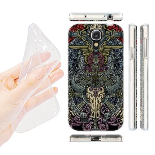 HEAD CASE silikonový obal na mobil Samsung galaxy S4 lebky a meče apokalypsa