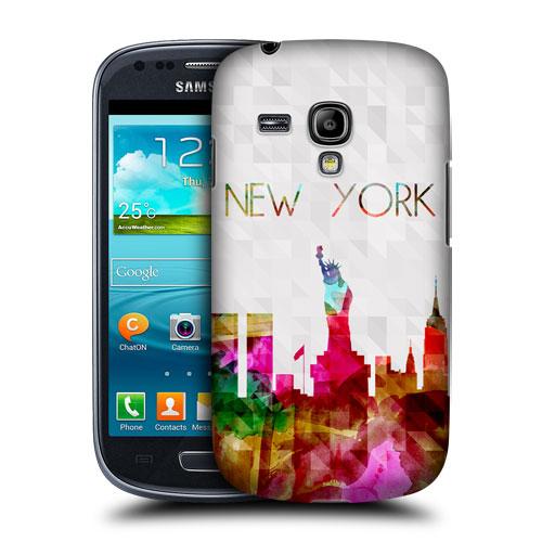 HEAD CASE pouzdro na mobil Samsung galaxy S3 mini město New York barevný vzor