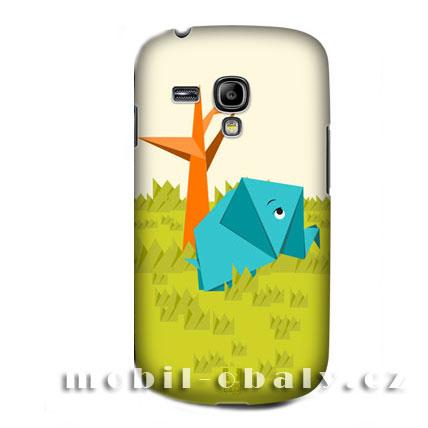 HEAD CASE pouzdro na mobil Samsung galaxy S3 mini origami vzor slon