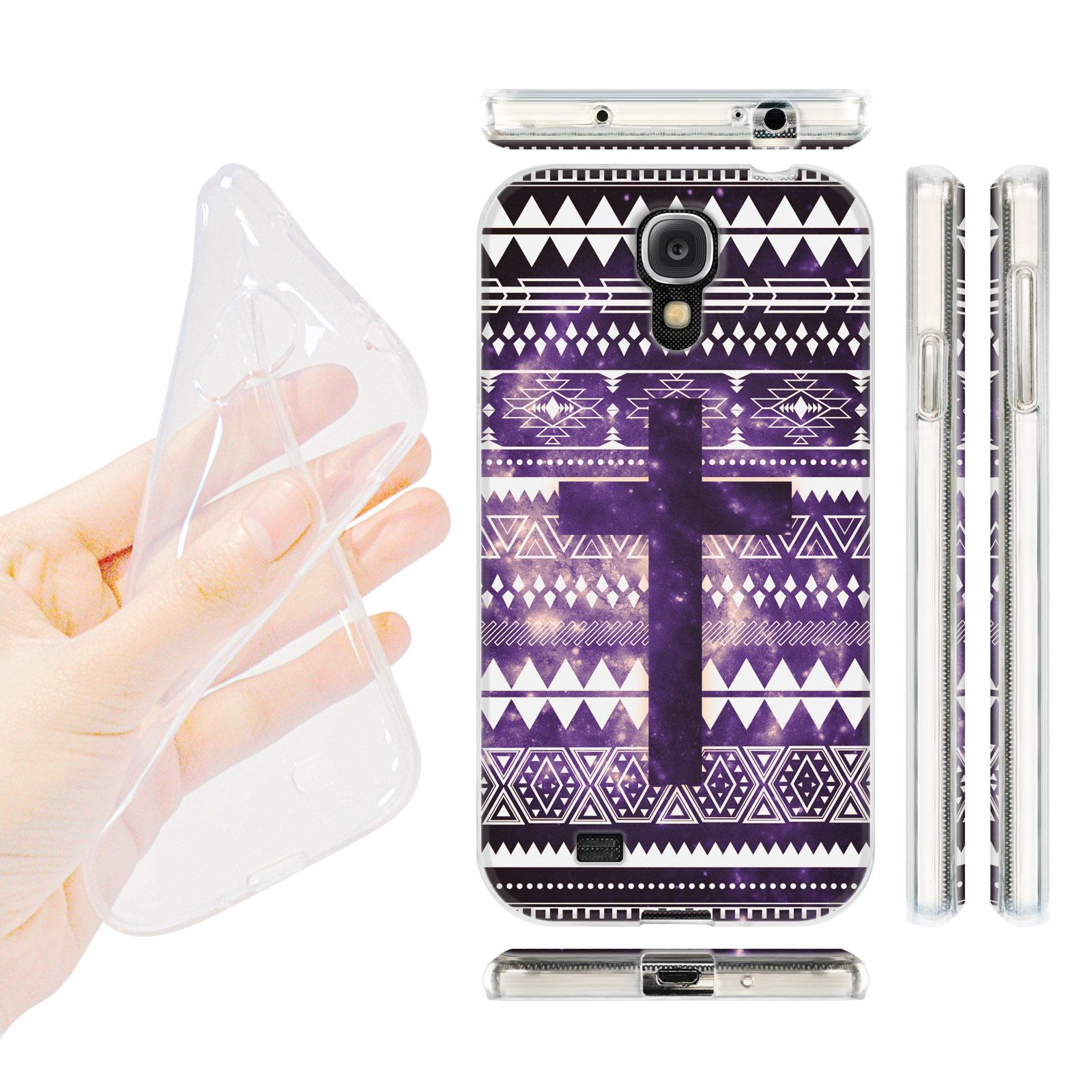 HEAD CASE silikonový obal na mobil Samsung galaxy S4 Aztécký vzor fialová