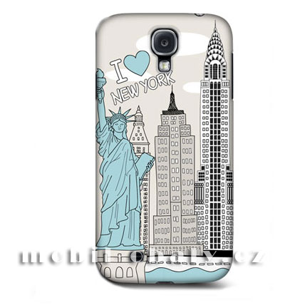 HEAD CASE pouzdro na mobil Samsung galaxy S4 město I love new York