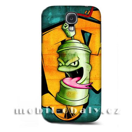 HEAD CASE pouzdro na mobil Samsung galaxy S4 komix zelený sprej