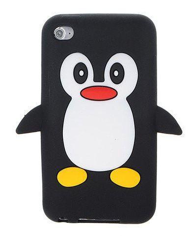 Silikon Obal na MP3 přehrávač Apple Ipod Touch 4. generace tučňák černá barva
