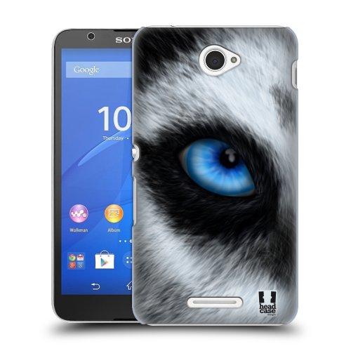 HEAD CASE obal na mobil Sony XPERIA E4 motiv pohled zvířete pes husky