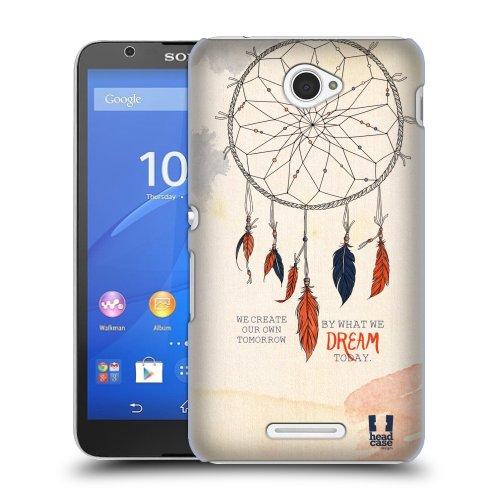 HEAD CASE obal na mobil Sony XPERIA E4 indiánský motiv lapač snů oranžovo-modrá