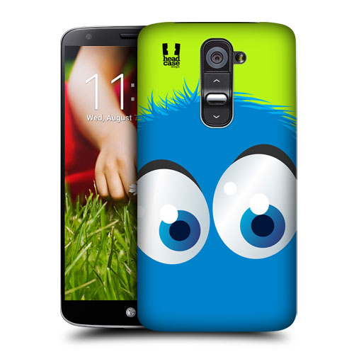 HEAD CASE pouzdro na mobil LG G2 motiv smajlík modrý