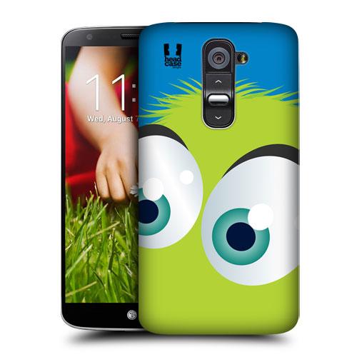 HEAD CASE pouzdro na mobil LG G2 motiv smajlík zelený