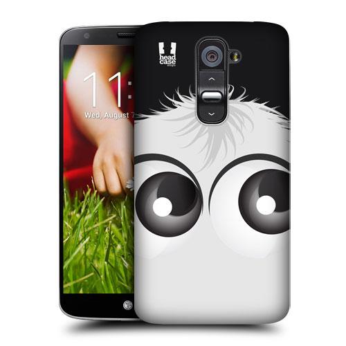 HEAD CASE pouzdro na mobil LG G2 motiv smajlík bílý