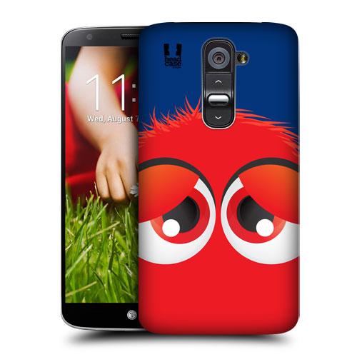 HEAD CASE pouzdro na mobil LG G2 motiv smajlík červený