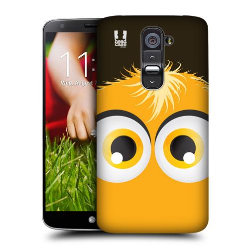 HEAD CASE pouzdro na mobil LG G2 motiv smajlík žlutý