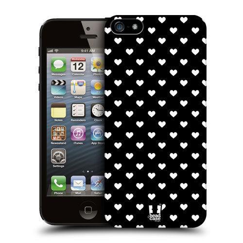 HEAD CASE Plastový obal na mobil Iphone 5/5S barevná srdce
