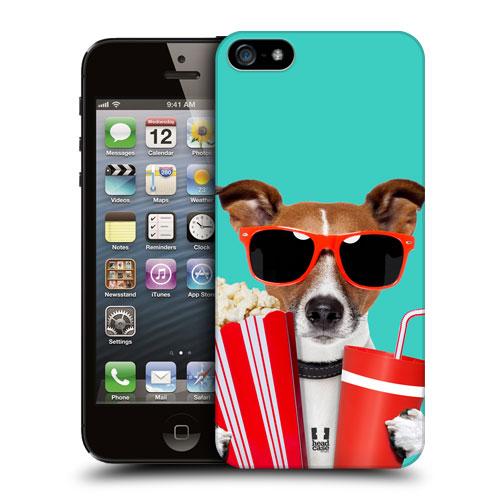 HEAD CASE plastový obal na mobil Iphone 5/5S legrační zvířátka pejsek v kině