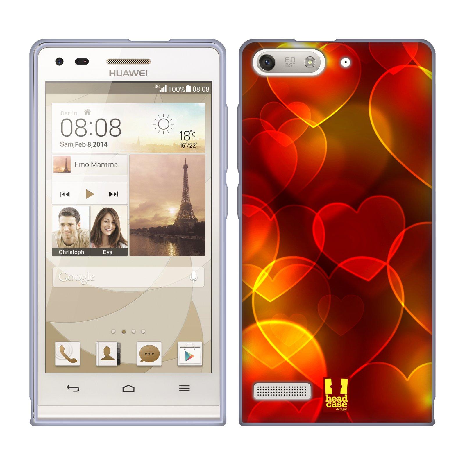 HEAD CASE silikonový obal na mobil Huawei Ascend G6 srdíčka kaleidoskop Bokeh