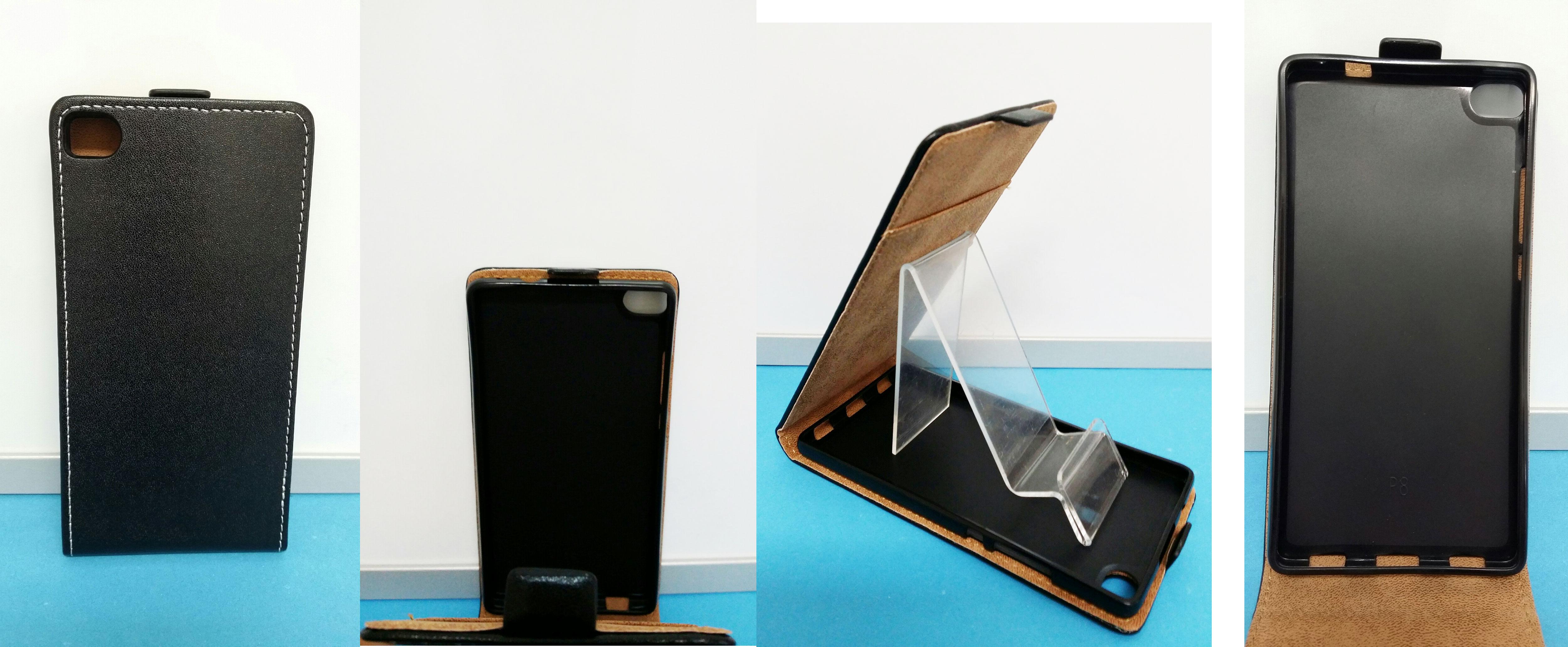 Pouzdro ECO-L na mobil Huawei P8 černá barva