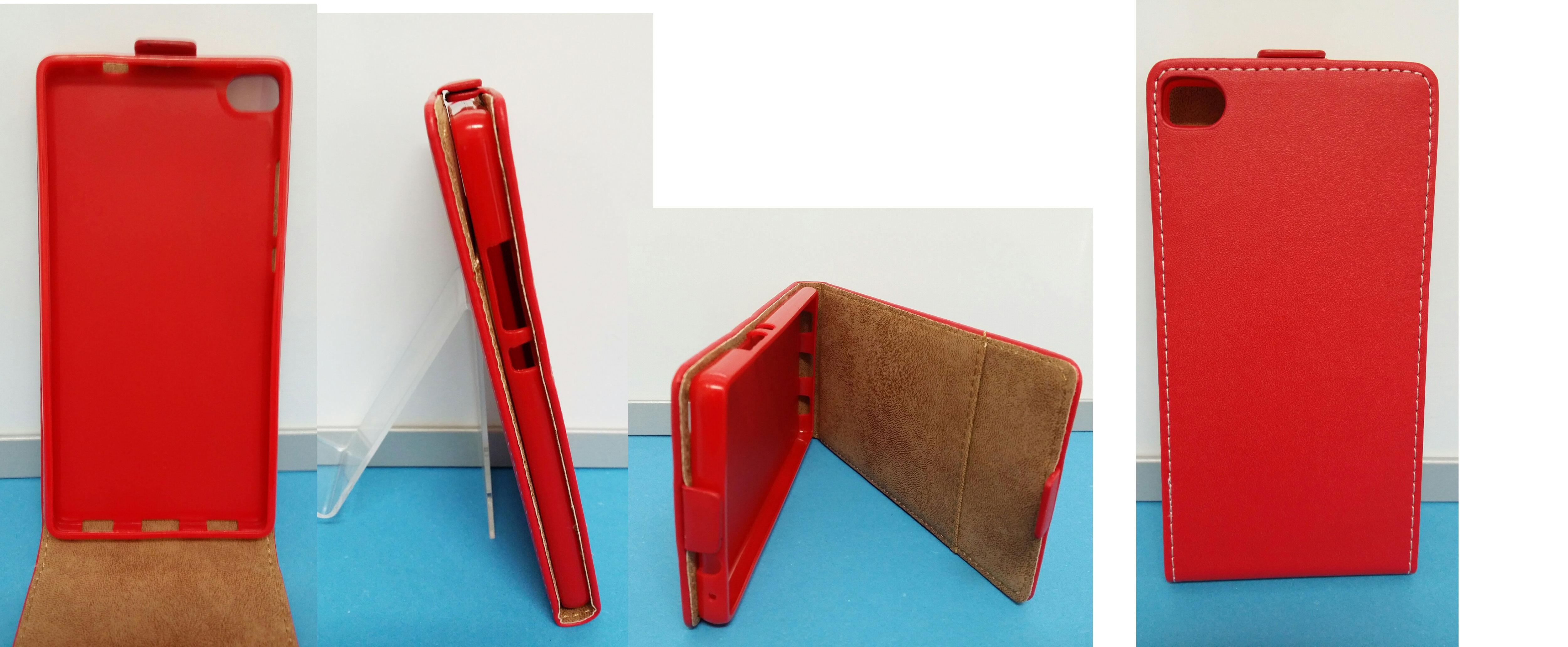 Pouzdro ECO-L na mobil Huawei P8 červená barva