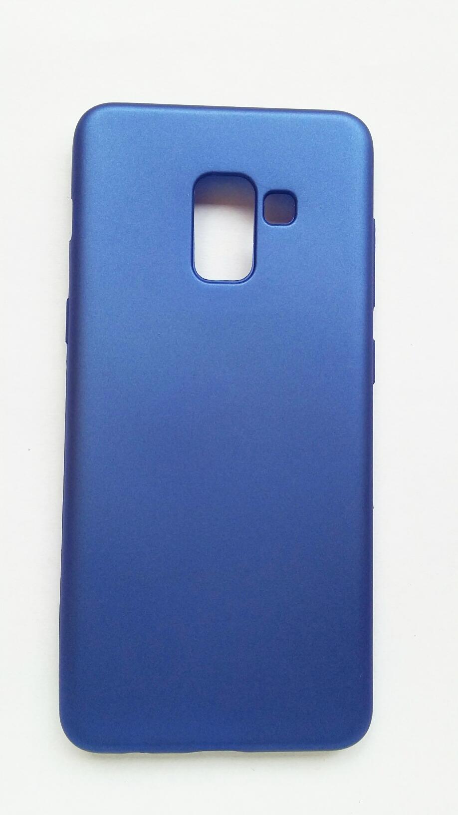 Obal Samsung Galaxy A8 2018 modrá barva Jelly Case
