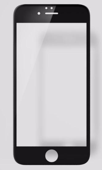 BLUE STAR 3D Tvrzené Sklo pro Apple Iphone 6 PLUS plné krycí sklo černé okraje